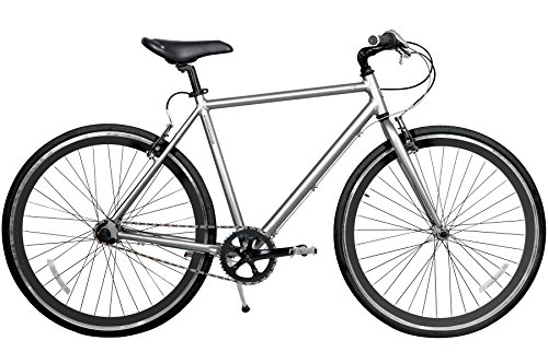 Gama Bikes Speed Cat 700c Dark Chrome 3 Speed Internal Shimano Urban Commuter Road Bicycle 21-Inch frame Silver