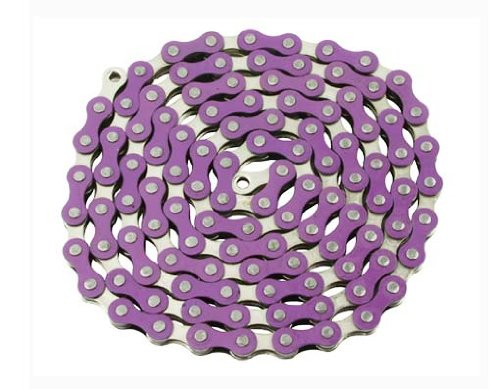 YBN Chain 12x18x112 PurpleChrome for bicycle Chain bike chain lowrider bikes beach cruiser chopper limos stretch bmx track fixie bicycles