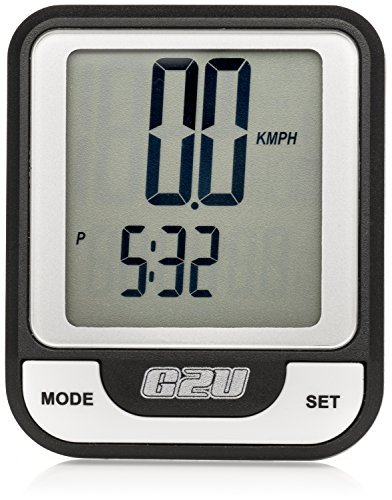Wireless Bike Computer by Geared2U - Multifunction Bicycle Cyclocomputer - Track Your Time Distance Speed Calories - Fast Easy To Set-Up Use