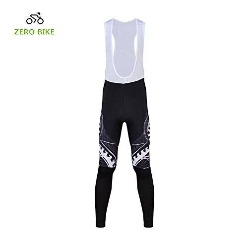 ZEROBIKE Mens 3D Gel Padded Biking Bicycle Bike Cycling Bib Tights Pants