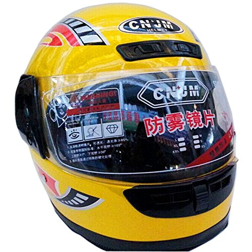 Winter Anti Frog lens yellow Full Face Motorcycle Helmet with Neck warmer