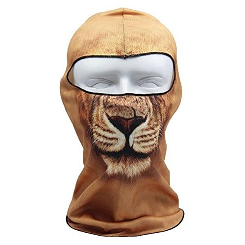 3D Leo Animal Print Full Face Mask Cover for Outdoor Sports Bicycle Cycling Motorcycle Facekini Ski Balaclava UV Protection Mask