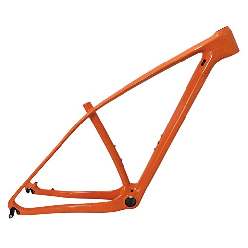 SmileTeam T1000 Carbon Orange Mtb Frame 29er Mtb Carbon Frame 29 Carbon Mountain Bike Frame 14212 or 1359mm Bicycle Frame 17inch