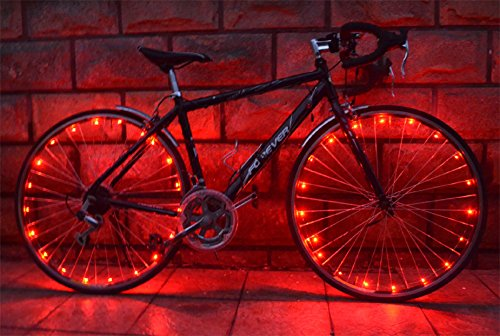 OuterStar Bicycle Wheel Light Ultra Bright LED Bike Wheel Light Safety Bike Tire Light Cool Gift for Kids Men Waterproof 2 Pack