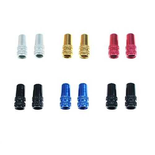 Presta Valve Cap 12 PCS CYSKY Aluminum Alloy Bicycle Bike Tire Valve Caps Dust Covers French Style Presta Valve Cap 4 Colors