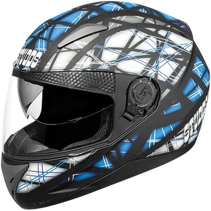 Studds Shifter DÃ D6 POLYCARBONATE Black Blue FULL FACE Bike Helmet