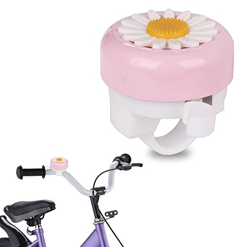 Pack of 2 Kids Bicycle Scooter Bell MINI-FACTORY Bike Handlebar Horn Accessory for Girls - Pink Flower