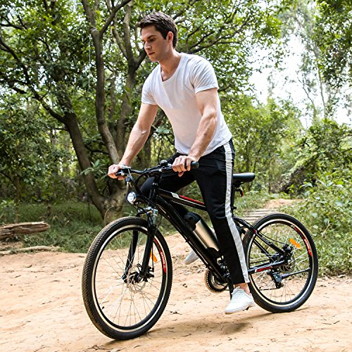 Zaplue 26 Electric Mountain Bike with 36V 8AH Removable Lithium-Ion Battery 250W Brushless Motor