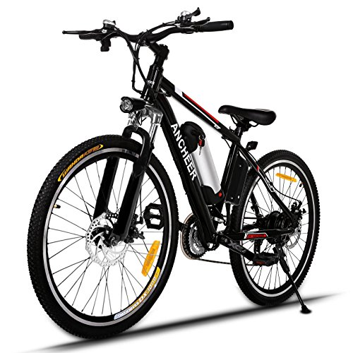 ANCHEER Electric Mountain Bike with 36V 8AH Removable Lithium-Ion Battery 250W Electric Bike for Adults with Battery Charger