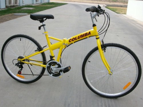 Columba 26 Folding Bike w Shimano 18 Speed Yellow SP26S_YLW