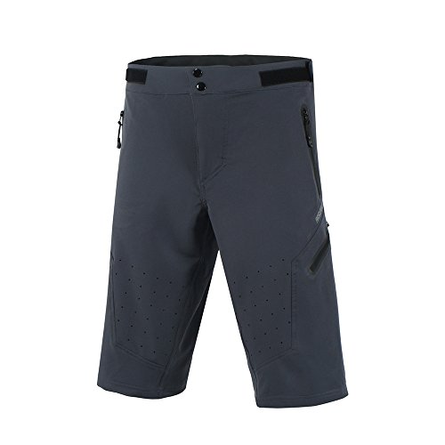 ARSUXEO Outdoor Sports MTB Cycling Shorts Breathable Gray Size Medium