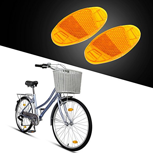 4Pcs Plastic Bicycle Wheel Safety Spoke Warning Reflector