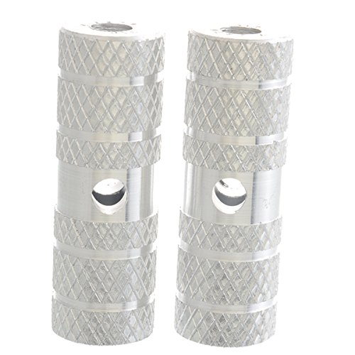 Alloy Mountain Bike Bicycle Pedal Foot Stunt Pegs for Kids Cylinder Silver 1 Pair