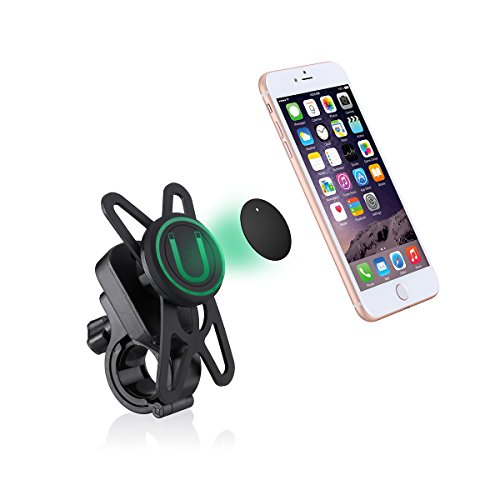 OCTO MOUNT Universal Magnetic Bike Mount Motorcycle Mount for Cell Phones Compatible with iPhone Samsung Galaxy HTC etc
