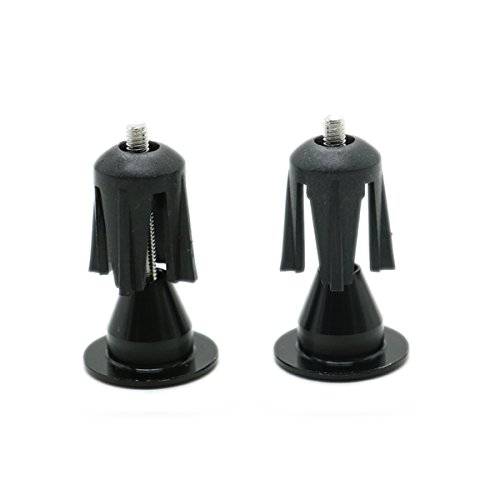 HUELE Bike Bar End Plugs -Rubber Sponge Aluminum Handlebar Plug Perfect for Most Bicycle  Black
