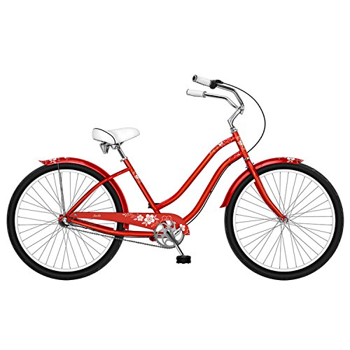 Phat Sachi 26 3-Speed Womens Beach Cruiser 26 RED
