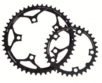 Stronglight CT2 Ceramic Teflon Black 110mm Campagnolo Type D Compact Chainring - 39T 273603
