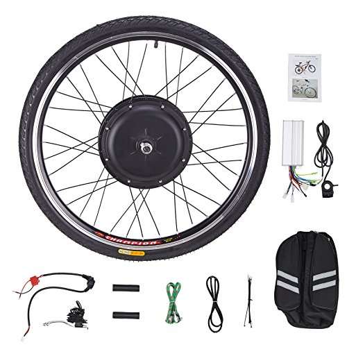Pinty FT1010 26 Front Wheel 48V 1000W Ebike Hub Motor Conversion Kit with Dual Mode Controller Disc Brake for Electric Bicycle Bike Up to 28-30 MPH