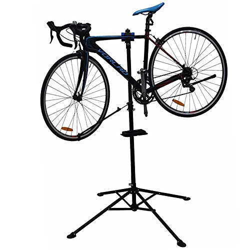 Forest Byke Company Foldable Quick Release Bike Repair Maintenance Frame Repair Rack Bicycle Repair Tools Bicycle Rack Display Stand with Tool Tray and Balance Bar