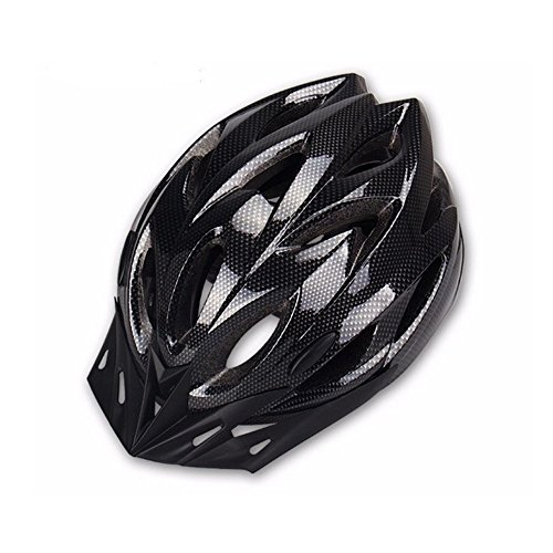 Adult Bike Helmet Adjustable Lightweight Cycling Helmet with Honeycomb Type 18 Holes Mountain Bicycle Racing Helmet for Men and Women Black