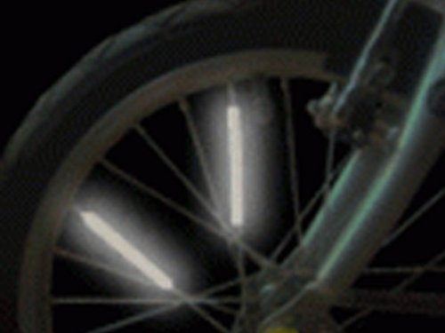 Bright Ideas BRS1 Pack of 10 bike spoke reflectors