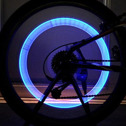 Bike Bicycle Accessories LED Wheel Lights Valve Lamp Valve Core Light