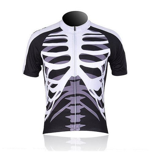 Cycling MTB Men Trend Summer Skull Biking Short Suit Breathable T-Shirt Yours_09 L